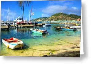 Caribbean Harbor Greeting Card