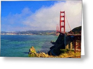 Greeting card featuring the Golden Gate Bridge