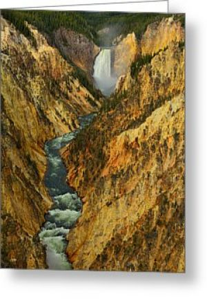Yellowstone Artist Point Greeting Card