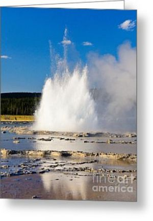 Great Fountain Geyser Greeting Card