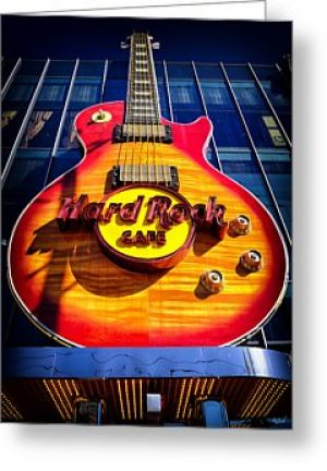Hard Rock Cafe Greeting Card