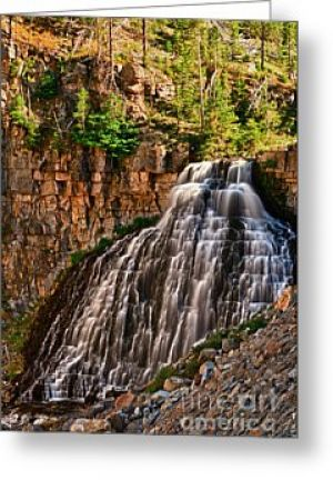 Rustic Falls Greeting Card