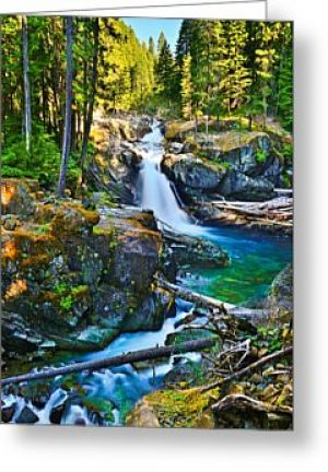 Silver Falls Greeting Card