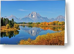 Oxbow Bend Autumn Reflections Greeting Card