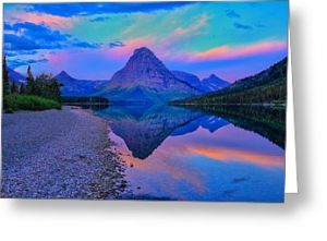 Dawn at Two Medicine Lake Greeting Card