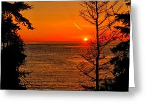Juan de Fuca Sunset Greeting Card