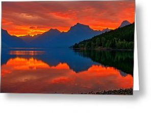 Lake McDonald Sunrise Greeting Card