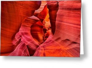 Lower Antelope Canyon Greeting Card