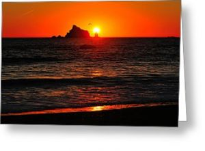 Rialto Beach Sunset Greeting Card