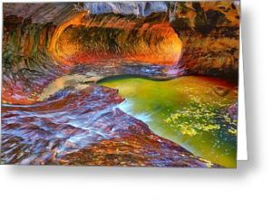 Zion National Park Subway Greeting Card